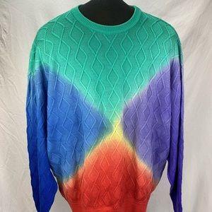 Vintage Gianni Versace Rainbow Men's Sweater XXL